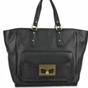 Marc by Marc Jacobs Black 100% Leather Tote Bag